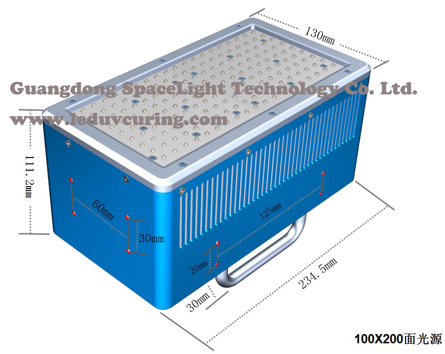 Customized LED UV Curing Machine Large Area UV Curing Light Source for Printing