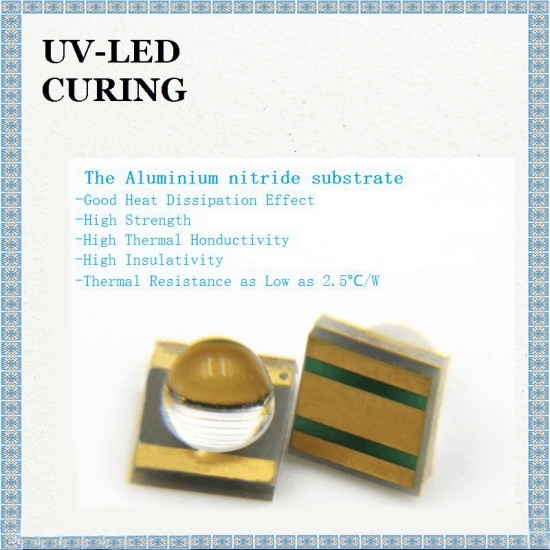 Quartz Lens View Angle deg 30° UV LED for Printing Curing Wavelenth 365-415nm