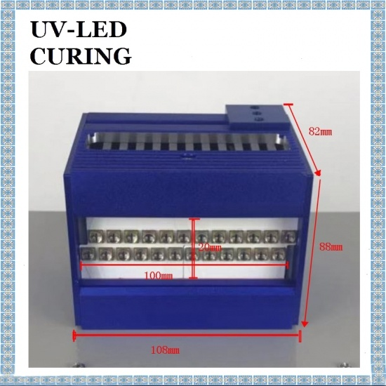 100*20mm 365nm UV LED Curing Systems for UV Glue Curing