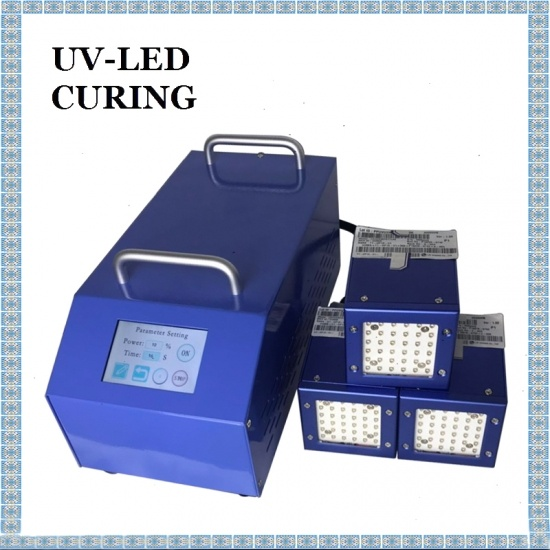 50x50mm UV LED 365nm 385nm 395nm 405nm UV Curing Lamp with Four Irradiation Heads
